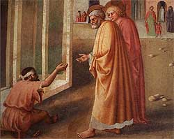 Particular of a Brancacci Chapel's fresco - Florence