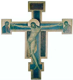 Museum of Santa Croce - Florence: the crucifix by Cimabue
