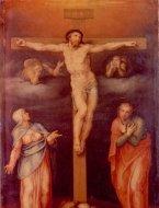 Crocifisso con la Madonna, San Giovanni e due angeli dolenti