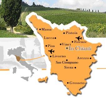 Mappa della Toscana