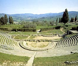 The roman theater of Fiesole, Italy