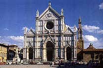 The church of Santa Croce in Florence, Italy