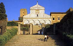 The Church of San Miniato in Florence, Italy - Exterior
